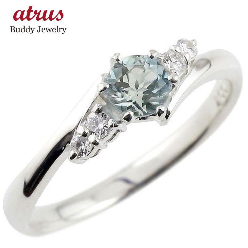婚約指輪 安い プラチナ リング アクアマリン ダイヤモンド ダイヤ pt900 指輪 エンゲージリング 一粒 大粒 レディース 3月誕生石 女性 送料無料