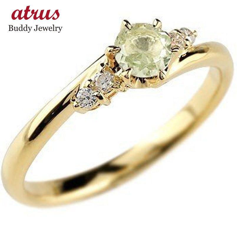 【最安値挑戦】 ペリドット ダイヤモンド リング 指輪 一粒 大粒 イエローゴールドk10 ストレート エンゲージリング 婚約指輪 10金 宝石 送料無料, インテグロース c5922b6f