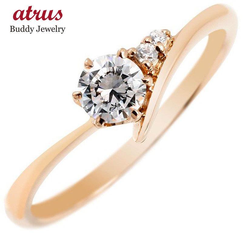 お買い得モデル 鑑定書付き VVS1クラス ピンクゴールドK18 ダイヤモンド 婚約指輪 エンゲージリング リング 一粒 大粒 ダイヤ ストレート プレゼント 女性 ペア 送料無料, ライフスタイルショップ FUNFUN d6169ee9