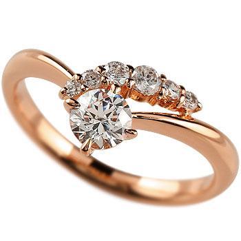 【日本未発売】 鑑定書付き 婚約指輪 エンゲージリング ダイヤモンド リング 一粒 大粒 SI ピンクゴールドK18 18金 ダイヤ ストレート 2.3 送料無料, ナルコティーク a32e3b0e