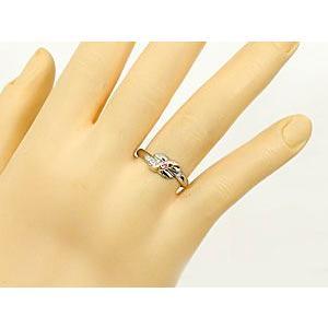結婚指輪 安い プラチナ ペアリング 2本セット pt900 18金 ピンクサファイア ダイヤモンド マリッジリング 甲丸 ピンクゴールド 18k コンビ 送料無料|atrus|03