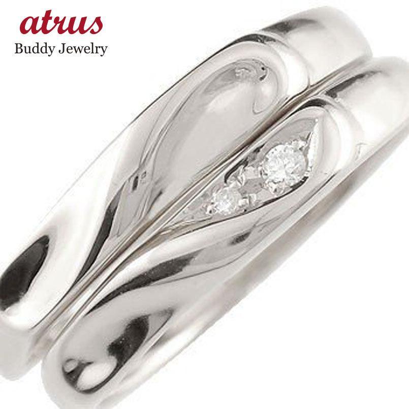 印象のデザイン 結婚指輪 送料無料 安い ペアリング 2本セット マリッジリング ダイヤモンド ハート ダイヤモンド ホワイトゴールドk10 10金 安い ダイヤ ストレート 送料無料, barret:b3447578 --- airmodconsu.dominiotemporario.com