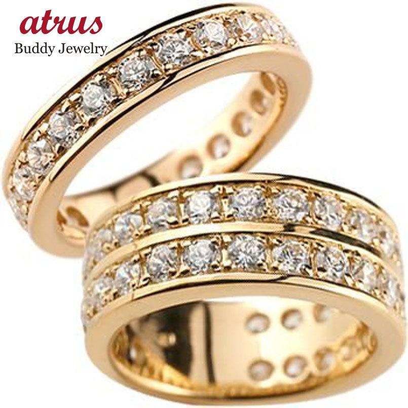 【在庫一掃】 マリッジリング 結婚指輪 ペアリング ダイヤモンド ハーフエタニティ 結婚指輪 ピンクゴールドk18 メンズ 結婚式 18金 ダイヤ ダイヤ ストレート カップル メンズ レディース 送料無料, Ade-jo:eed6aca0 --- airmodconsu.dominiotemporario.com