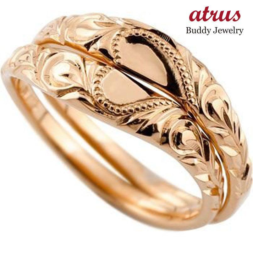 堅実な究極の ハワイアンジュエリー ハワイアン ペアリング 結婚指輪 ハート ピンクゴールドk18 地金リング 18金 k18pg ストレート カップル シンプル 人気 プレゼント 女性, ジュエリータカヤス 3c7ffb7e