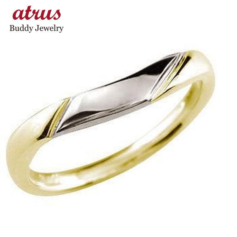 新しく着き メンズリング 人気 イエローゴールドk18 リング 指輪 コンビ 指輪 プラチナ コンビ 送料無料 18金ピンキーリング ストレート 男性用 送料無料, 大きな取引:2b32ef36 --- bit4mation.de