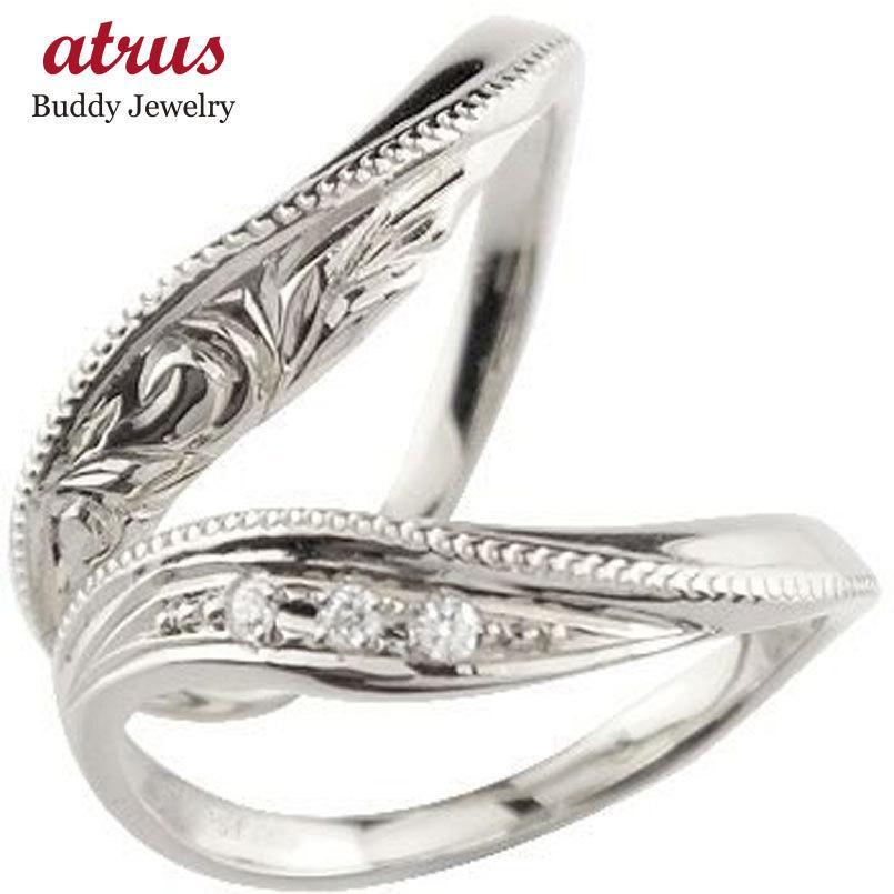 結婚指輪 安い プラチナ ペアリング 2本セット pt900 ハワイアンジュエリー ダイヤモンド マリッジリング ダイヤ シンプル 女性 男性 送料無料