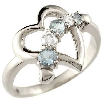 素敵な ダイヤモンド オープンハート ピンキーリング プラチナ リング 3月誕生石 アクアマリン 指輪 ダイヤ リング 3月誕生石 アクアマリン 宝石 送料無料, ふとんのわた勇:c7a48247 --- airmodconsu.dominiotemporario.com