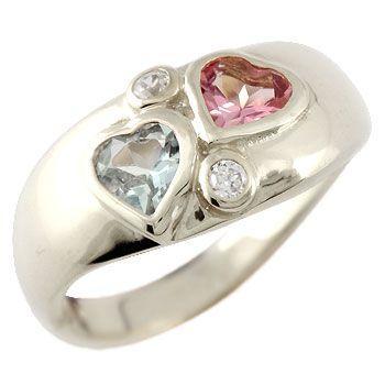 欲しいの ピンキーリング ハート プラチナ リング ハート アクアマリン ピンクトルマリン 指輪 指輪 3月誕生石 3月誕生石 送料無料, まんま母さんのりぼん24:d8248407 --- airmodconsu.dominiotemporario.com