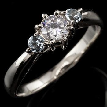 【おまけ付】 ピンキーリング プラチナ ダイヤモンド リング アクアマリン 指輪 大粒 ダイヤ ダイヤモンドリング ダイヤ ストレート 宝石 送料無料, mili an deni ミリアンデニ afa31147