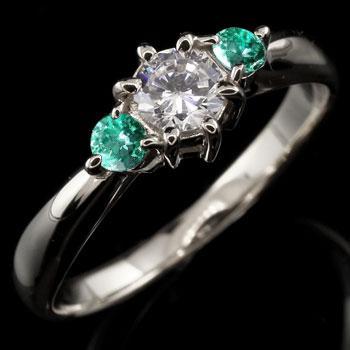 【人気商品】 鑑定書付き 婚約指輪 エンゲージリング ダイヤモンド リング エメラルド 指輪 大粒 ダイヤ ホワイトゴールドK18 18金 ダイヤ ストレート 宝石 送料無料, KAG-Deli かぐでり 698e3adc