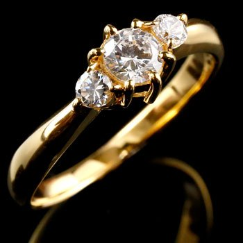 【送料無料(一部地域を除く)】 ピンキーリング ダイヤモンド リング 指輪 大粒 ダイヤ イエローゴールドk18 18金 ダイヤモンドリング ダイヤ ストレート 送料無料, ベッド寝具ふとん座布団工場直販店 08f02873