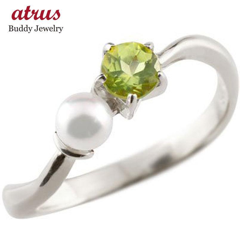最大の割引 ピンキーリング ペリドット ベビーパール リング 指輪 ホワイトゴールドk18 18金 8月誕生石 ストレート 宝石 真珠 フォーマル 送料無料, 神戸かぐや姫 0efada9c