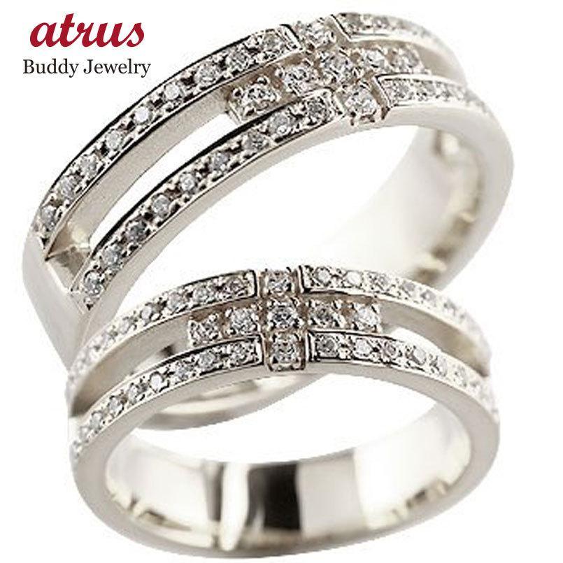 【楽ギフ_包装】 クロス ペアリング 結婚指輪 マリッジリング ダイヤモンド ダイヤ ホワイトゴールドk18 幅広 幅広 ダイヤ 18金 クロス ストレート カップル 送料無料, ネット レンタル シェリィ:78b324b8 --- airmodconsu.dominiotemporario.com