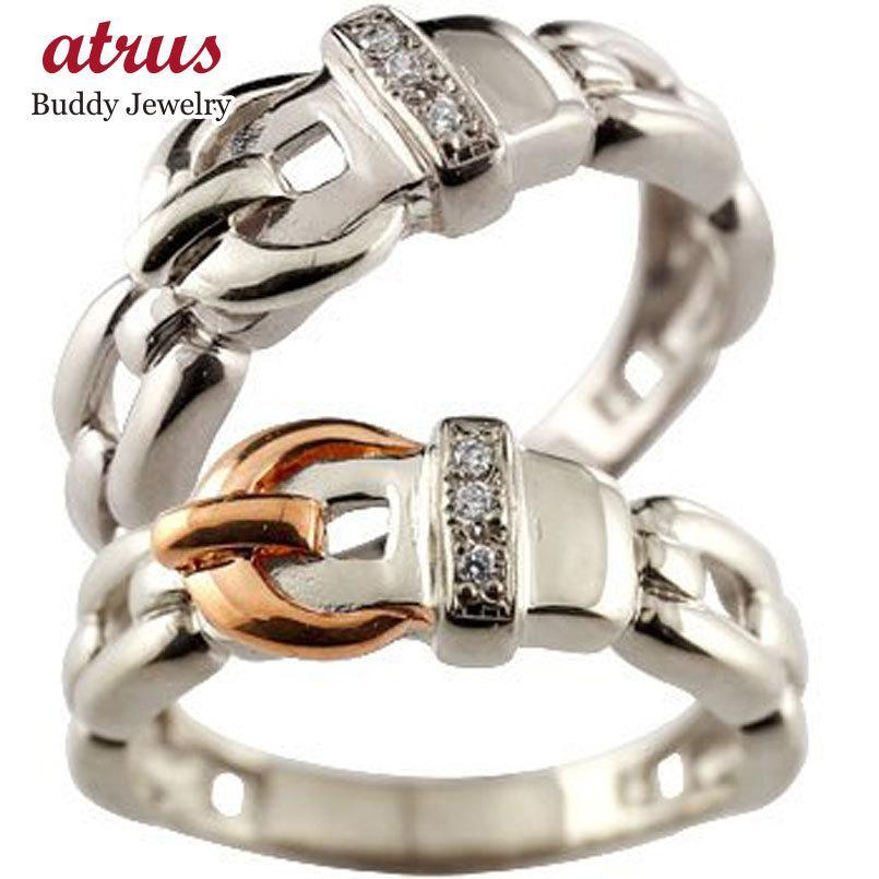 【予約】 ペアリング 結婚指輪 マリッジリング プラチナ ダイヤモンド ダイヤ ベルト バックル ピンクゴールドk18 コンビ 18金 ストレート カップル 送料無料, NetBabyWorld(ネットベビー) 2c8aead9