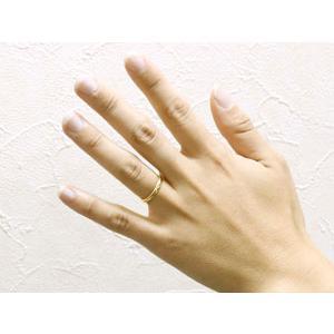 ペアリング 人気 結婚指輪 マリッジリング 結婚式 ミル打ち イエローゴールドk18 甲丸 地金リング 宝石なし 18金 ストレート カップル 2.3  女性 送料無料|atrus|04