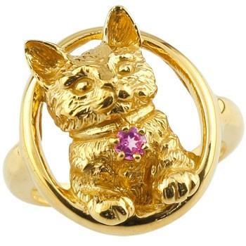 【新品】 ピンキーリング 猫 リング 猫 18k ピンクトルマリン 指輪 イエローゴールドk18 18k ストレート 18金 10月誕生石 ストレート 宝石 送料無料, BIRIGO:8f860862 --- airmodconsu.dominiotemporario.com