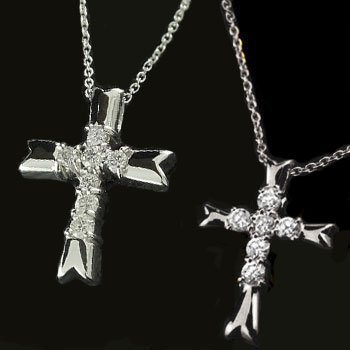 新到着 ペアネックレス ペアペンダント クロス ダイヤモンド ネックレス ペンダント ホワイトゴールドk18 十字架 ダイヤ ダイヤ 18金 カップル 18k 送料無料, ニノミヤマチ 40d5e53f