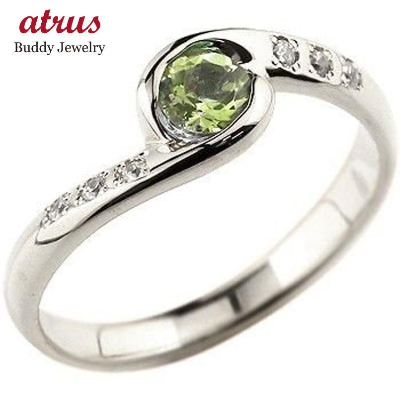 人気商品の ピンキーリング ペリドット プラチナリング 指輪 ダイヤモンド スパイラルリング 大粒 pt900 レディース 8月誕生石 ダイヤ ストレート 宝石 送料無料, 100MANVOLT 2f45368f