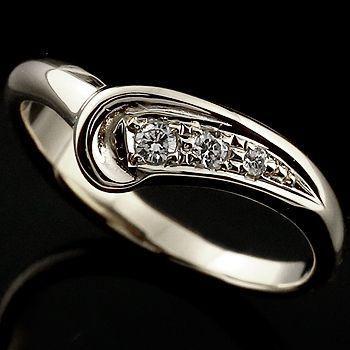 再再販! ピンキーリング レディース ダイヤモンド リング 送料無料 指輪 ホワイトゴールドk18 リング ダイヤ ダイヤモンドリング V字 18金 レディース ウェーブリング スリーストーン 送料無料, ナカガミグン:9f8cfeb5 --- airmodconsu.dominiotemporario.com