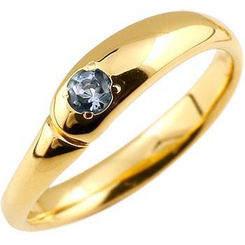 お待たせ! ピンキーリング タンザナイト リング 指輪 イエローゴールドk18 18金 シンプル 一粒 レディース 12月誕生石 ストレート 宝石 送料無料, 栃尾市 f980ed6e
