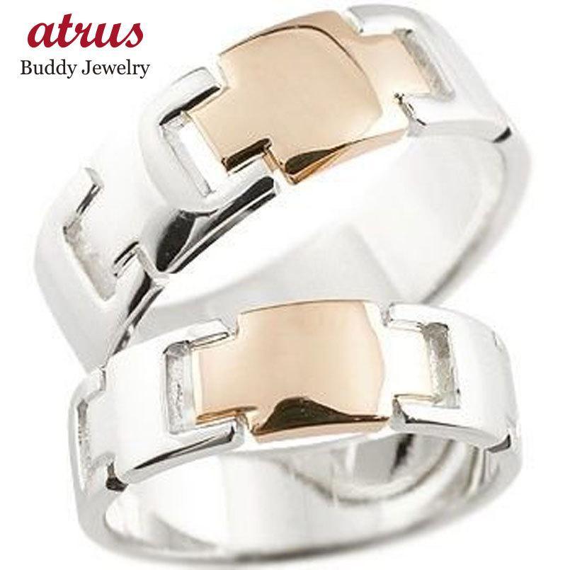 【在庫あり/即出荷可】 クロス ペアリング プラチナ ピンクゴールドk18 結婚指輪 マリッジリング コンビリング 地金リング 十字架 シンプル 結婚式 宝石なし 人気 18金 ストレート, デグナー通販(レザージャケット) 4c0c2b15