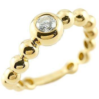 納得できる割引 ピンキーリング ダイヤモンド 指輪 丸玉 ボールリング イエローゴールドk18 S字 カーブ ダイヤ ダイヤモンドリング 一粒 大粒 レディース 18金 ストレート, 波崎町 dd7a8ffa