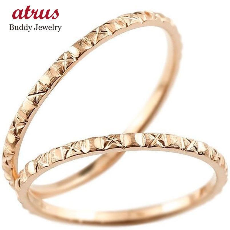 品質満点! ペアリング 結婚指輪 マリッジリング ピンクゴールドk10 k10 華奢 アンティーク ストレート 10金 スイートペアリィー カップル 送料無料, 寿shop 82009533