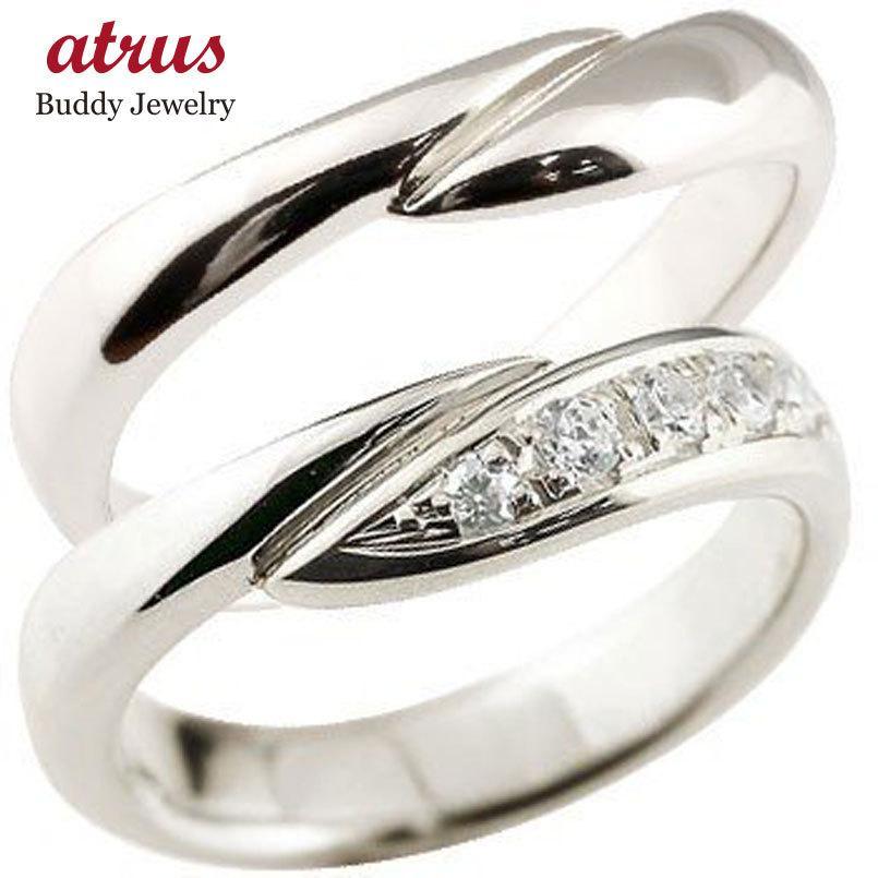 新しい ペアリング 結婚指輪 ダイヤモンド マリッジリング ホワイトゴールドk18 ダイヤ 18金 結婚式 ウェーブリング カップル 男性用 送料無料, 三養基郡 39faa5e9