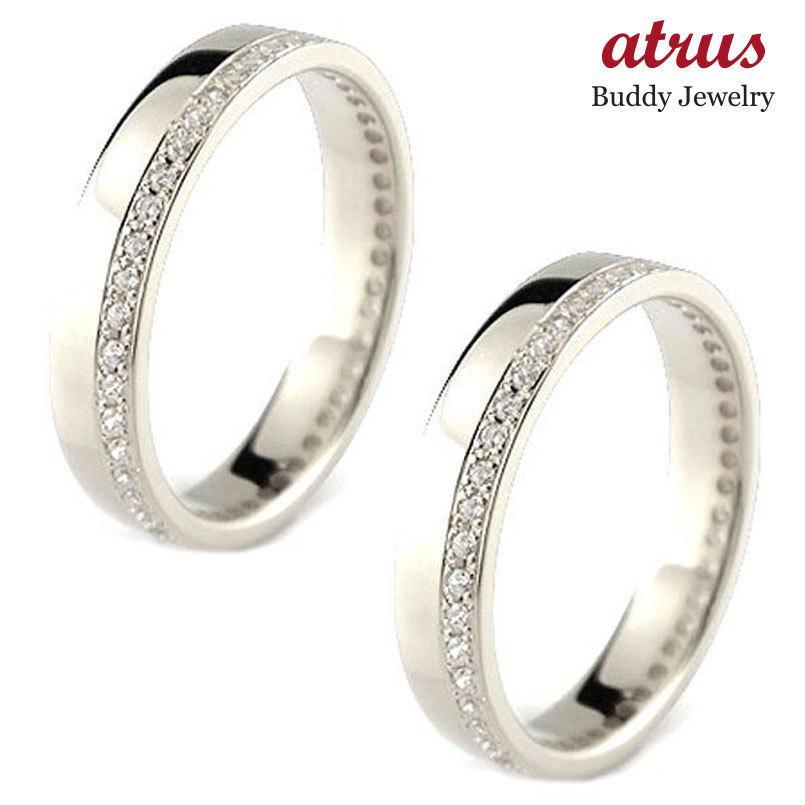 正規通販 レディース ペアリング マリッジリング 結婚指輪 ダイヤモンド エタニティ フルエタニティ ホワイトゴールドk18 ダイヤ 18金 トラスト 送料無料, YUKI Closet cb5b4604