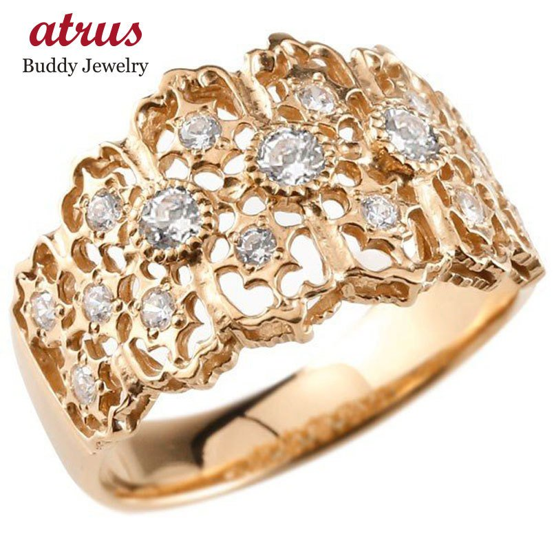 2019人気の メンズ ダイヤモンドリング ピンクゴールドk18 指輪 婚約指輪 エンゲージリング 幅広指輪 シンプル 18金 送料無料, 釣具のポイント daf76bca