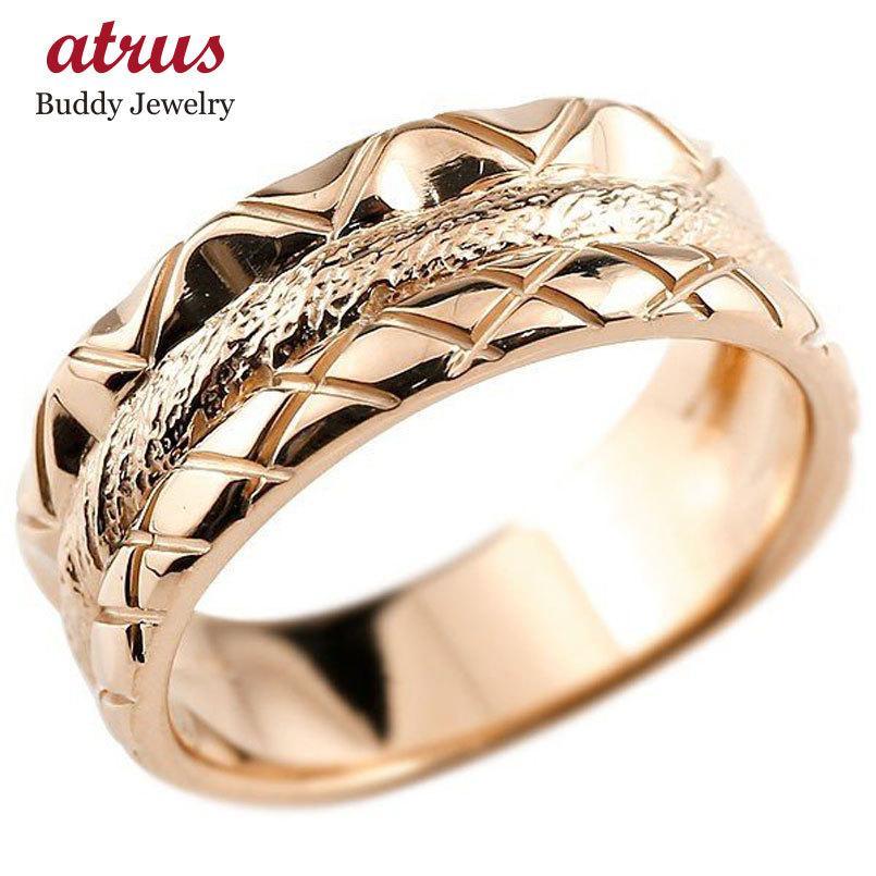 人気を誇る メンズ リング ピンクゴールドk18 指輪 幅広リング 地金リング 18金 送料無料, アンサーフィールド 127990da