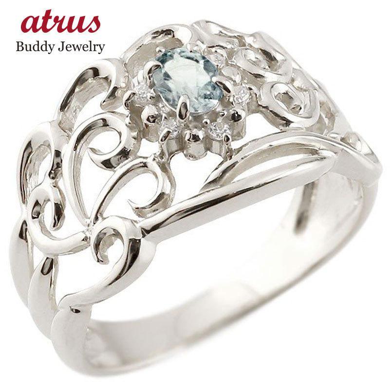 【高価値】 リング アクアマリン 指輪 送料無料 ホワイトゴールドk18 指輪 宝石 18k 透かし ダイヤモンド 3月誕生石 幅広リング レディース 18金 宝石 送料無料, キッズスマイルショップROBE:7a2796c9 --- airmodconsu.dominiotemporario.com