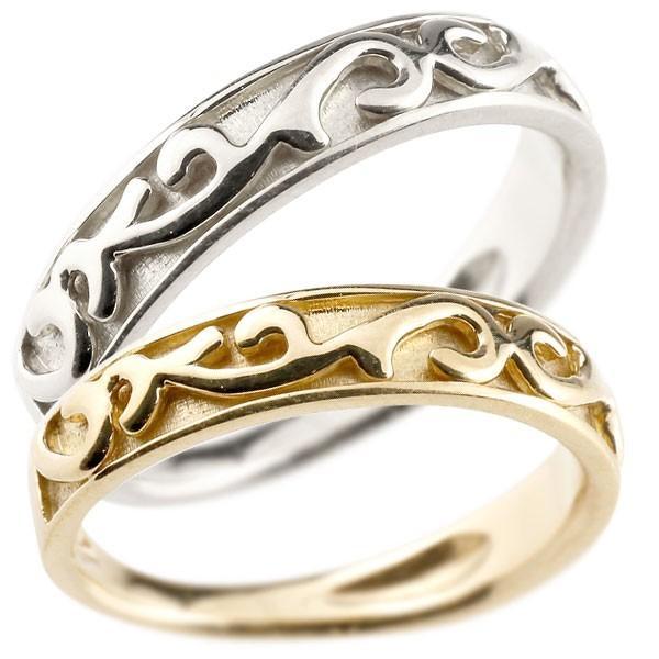 最新デザインの マリッジリング ペアリング 指輪 地金リング イエローゴールドk18 ホワイトゴールドk18 アラベスク ストレート 宝石無し ホーニング つや消し 18金 宝石, イクサカムラ 81951d83