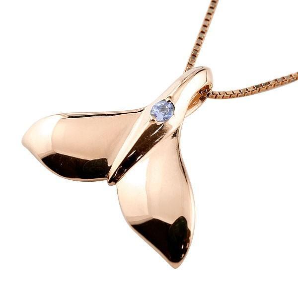 ファッションの ハワイアンジュエリー メンズホエールテール クジラ 鯨 タンザナイト ネックレス ピンクゴールド ペンダント 天然石 12月誕生石 k10 10金 人気 宝石, BLAST bdbf6af6