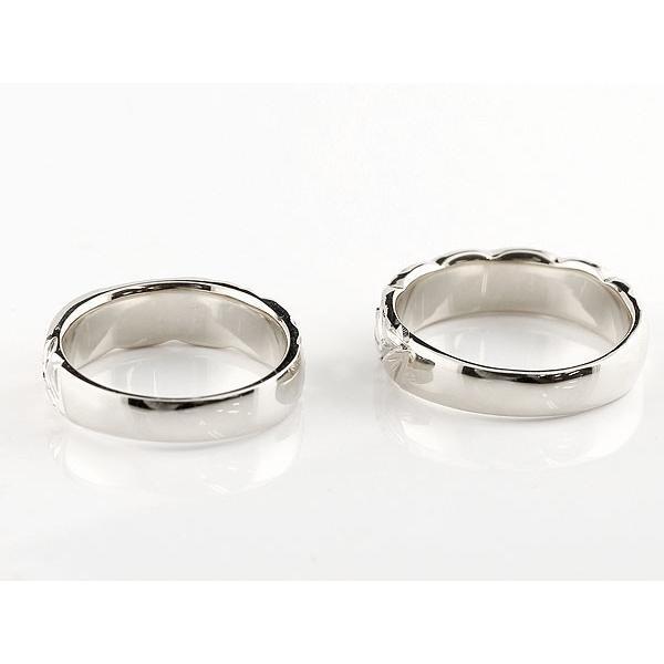 ハワイアンジュエリー 結婚指輪 ペアリング アクアマリン ダイヤモンド ホワイトゴールドk10 幅広 指輪 マリッジリング ハート ストレート カップル 10金|atrus|03