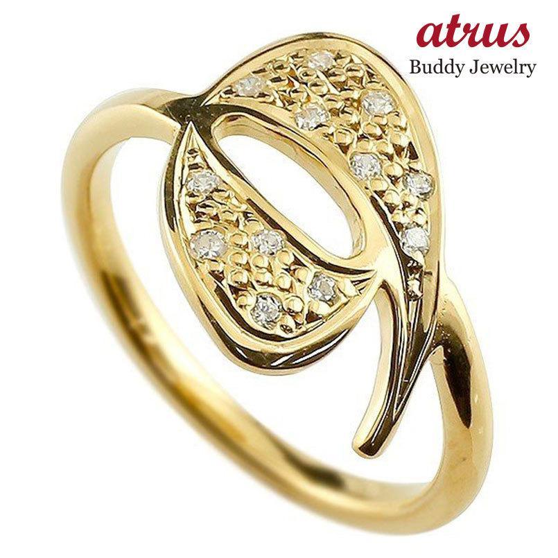 (税込) ピンキーリング ダイヤモンド ナンバー9 イエローゴールドk10 10金 リング 指輪 数字 ストレート 送料無料, SUGAR JEWEL ca013509