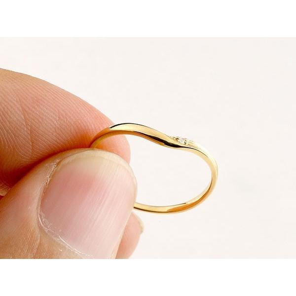 結婚指輪 安い ペアリング マリッジリング ダイヤモンド イエローゴールドk18 プラチナ V字 つや消し 一粒 18金 スイートペアリィー インフィニティ 最短納期 atrus 04