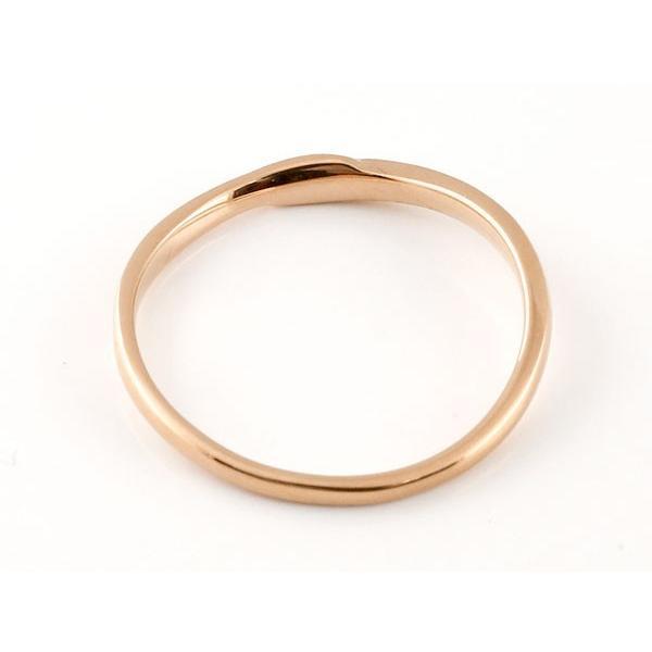 結婚指輪 安い スイートペアリィー インフィニティ ペアリング 結婚指輪 ダイヤモンド ピンクゴールドk18 プラチナ900 S字 つや消し 一粒 18金 華奢 最短納期 atrus 03