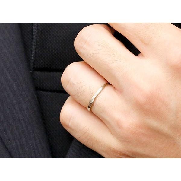 結婚指輪 安い スイートペアリィー インフィニティ ペアリング 結婚指輪 ダイヤモンド ピンクゴールドk18 プラチナ900 S字 つや消し 一粒 18金 華奢 最短納期 atrus 06