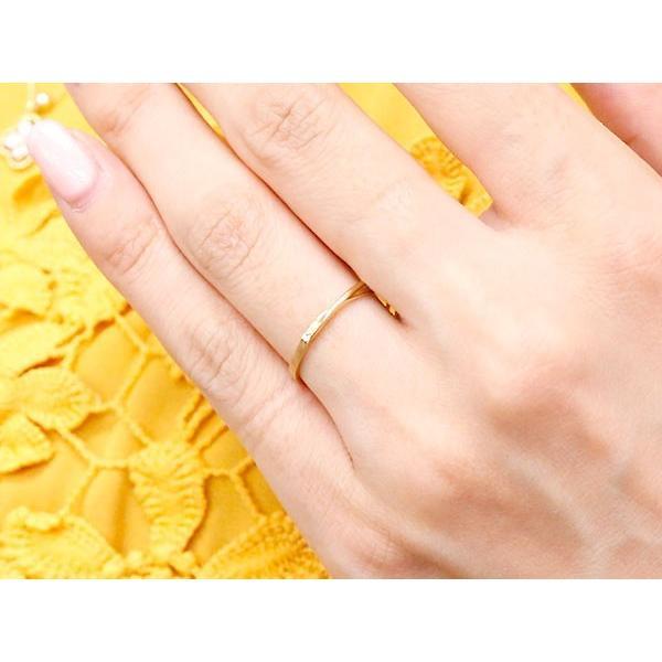 結婚指輪 安い スイートペアリィー インフィニティ ペアリング マリッジリング ダイヤモンド イエローゴールドk18 プラチナ900 S字 つや消し 18金 最短納期|atrus|05