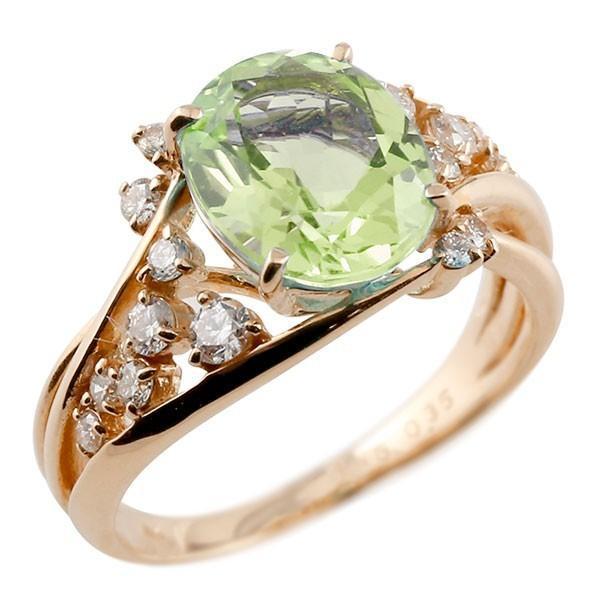 【予約販売品】 エンゲージリング 婚約指輪 一粒 ペリドット ピンクゴールドk18 大粒 指輪 ダイヤモンド 8月誕生石 18金 宝石 送料無料, OAフォレスト 918dd6c7