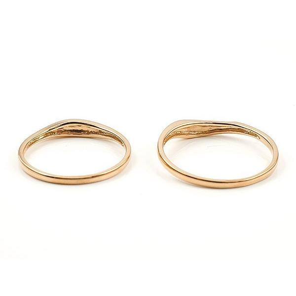 ペアリング 結婚指輪 マリッジリング ハート ピンクゴールドk18 18金 シンプル つや消し スターダスト加工 ストレート スイートペアリィー カップル 最短納期 atrus 02