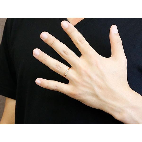 ペアリング 結婚指輪 マリッジリング ハート ピンクゴールドk18 18金 シンプル つや消し スターダスト加工 ストレート スイートペアリィー カップル 最短納期 atrus 05