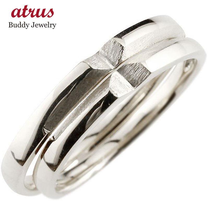ペアリング 結婚指輪 マリッジリング クロス 十字架 ホワイトゴールドk10 10金 シンプル つや消し ストレート スイートペアリィー カップル 最短納期 送料無料|atrus