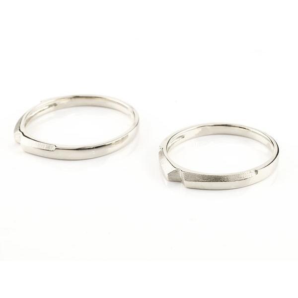 ペアリング 結婚指輪 マリッジリング クロス 十字架 ホワイトゴールドk10 10金 シンプル つや消し ストレート スイートペアリィー カップル 最短納期 送料無料|atrus|02