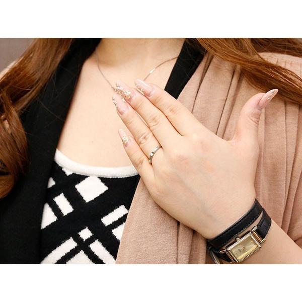 ペアリング 結婚指輪 マリッジリング クロス 十字架 ホワイトゴールドk10 10金 シンプル つや消し ストレート スイートペアリィー カップル 最短納期 送料無料|atrus|04