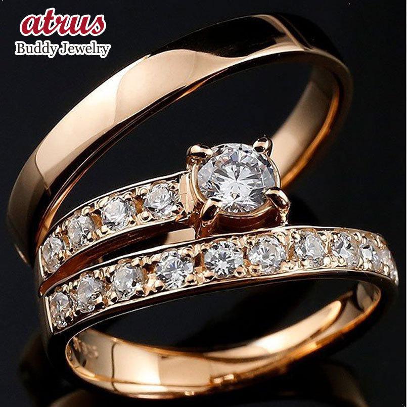 世界的に 指輪 結婚指輪 安い キュービックジルコニア ペアリング ピンクゴールドk10 エタニティ リング 一粒 大粒 リング 10金 プレゼント 女性 送料無料, バッグ財布革小物ZeroGravity 7d32cac1