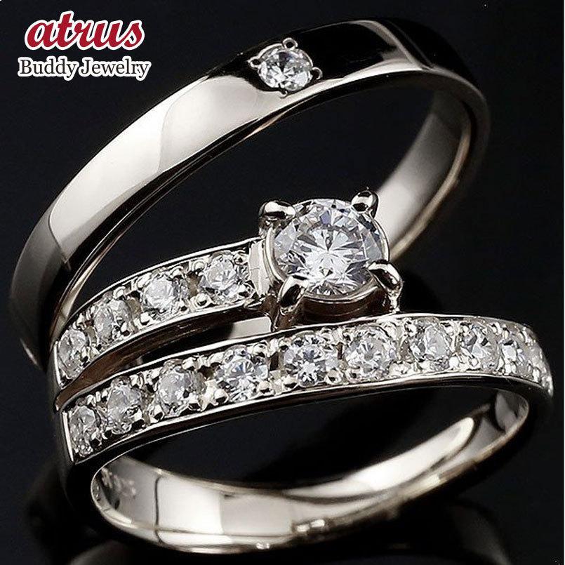 【激安アウトレット!】 プラチナ ダイヤモンド ペアリング 結婚指輪 エタニティ リング マリッジリング 一粒 大粒 リング ダイヤ 送料無料, カワグチマチ cb209e0f