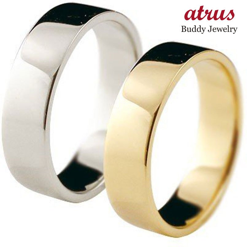 全国総量無料で 結婚指輪 安い ペアリング 平角 プラチナ 5ミリ マリッジリング 結婚指輪 地金 宝石なし イエローゴールドk18 18金 ストレート カップル 女性 送料無料, アサンテサーナ(クラフトと食品) bbac442f