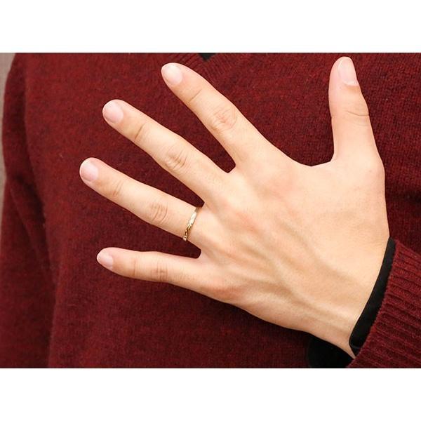 ペアリング 2本セット 結婚指輪 安い プラチナ ピンクゴールドk18 スイートペアリィー 結び リング pt900 18金 華奢 ストレート 地金リング コンビ 送料無料 atrus 05